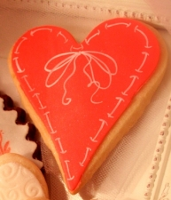 ROMANTIC A Heart Stitched in Love Cookie Favor
