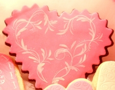 ROMANTIC A Wink for You In Hot Pink  Valentine Cookie Favor