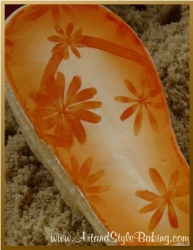 CABRILLO Beach Scene Orange Flip Flop Cookie Favor