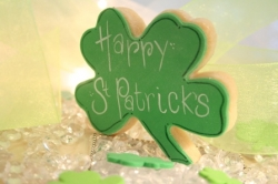 FLANAGAN St Patricks Day Shamrock Cookie Favor