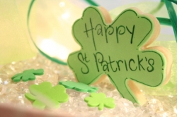 FLANNERY St Patricks Day Shamrock Cookie Favor