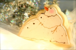 Snowman Cookie Favor FRUITCAKE