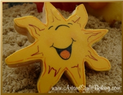 HARBOR Beach Scene Sun Cookie Favor