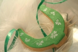 KIRBY St Patricks Day Horseshoe Cookie Favor
