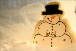 Snowman Cookie Favor MERRY