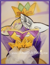 Mardi Gras Cookie Bouquets and Gifts