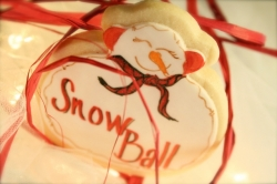 Snowman Cookie Favor NOEL