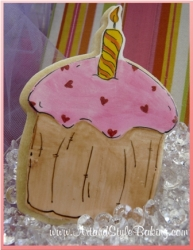 PENELOPE Birthday Girl Cupcake Cookie Favor
