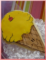 PIPER Birthday Girl Ice Cream Cone Cookie Favor