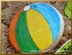 PISMO Beach Scene Beach Ball Cookie Favor