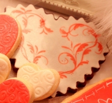 ROMANTIC You Set My Heart Aflutter Valentine Cookie Favor