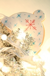 Snow Cap Cookie Favor HOLLY