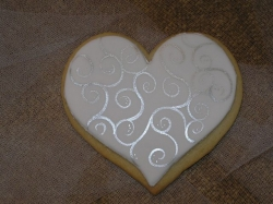 HEART SYLVIA Heart Cookie Favor